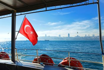 Turkish flag on the ferry - image #272517 gratis