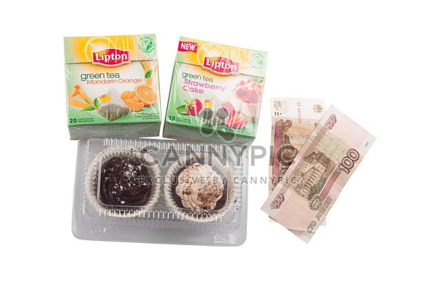 Tea packing and cakes for 3 dollars, Russia, St. Petersburg - Free image #272557