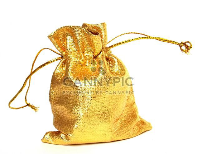 An isolated golden sack on a white background. #goyellow - image #272607 gratis