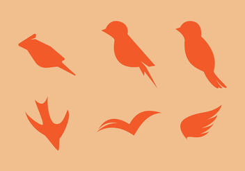 Free Minimaslitic Birds Vector Set - Free vector #272637