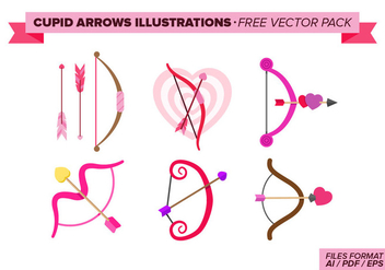 Cupid Arrows Illustrations Free Vector Pack - vector #272647 gratis