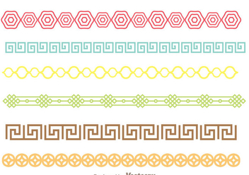 Colorful Asian Border - vector gratuit #272697