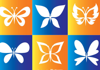 White Butterflies Vector Icons - Free vector #272737