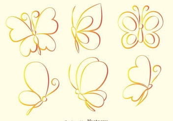 Butterfly Outline Icons - vector gratuit #272757