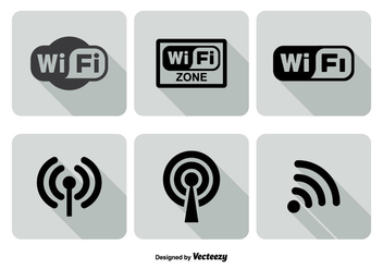 Wifi Logo Icon Set - vector gratuit #272767