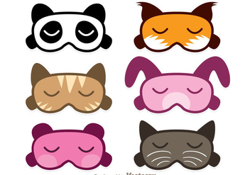 Animal Sleep Mask Vectors - Free vector #272837