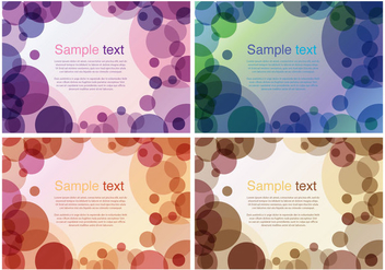 Purple Circles Background - vector gratuit #272877