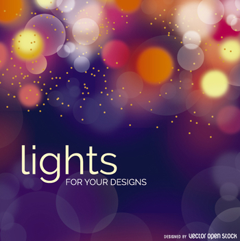 Bokeh lights background - vector gratuit #272897