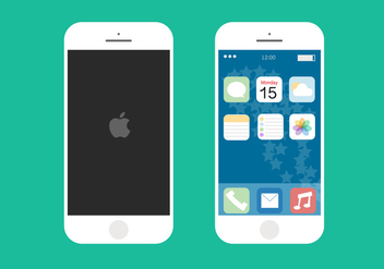iPhone 6 Flat Free Vector - vector gratuit #273247