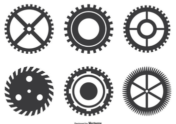 Assorted Cogwheel Shape Set - Free vector #273287