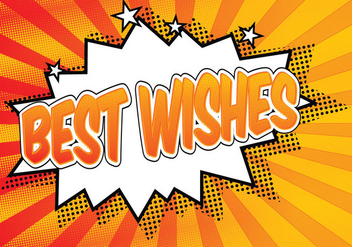 Comic Style Best Wishes Illustration - Free vector #273297