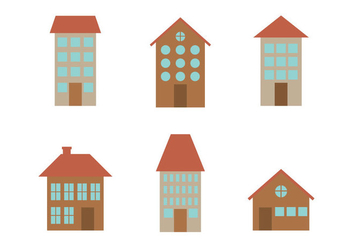 Townhomes Vectors - бесплатный vector #273317