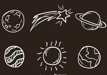 Space White Icons - Free vector #273337