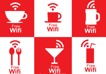 Cafe Wifi Symbol - vector gratuit #273417