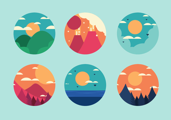 Free 6 Mountain Vectors - vector #273437 gratis