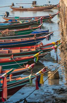 Fishing boats on berth - image #273597 gratis