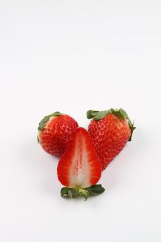 Strawberries on white background - бесплатный image #273787