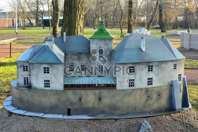 Exhibition Kiev in miniature. Breadboard model of the castle in the Lviv region. - Free image #273947
