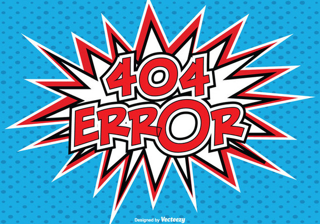 Illustration de Style comique 404 Error - vector gratuit #273977
