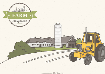 Free Farm Scene Vector Background - vector gratuit #274047