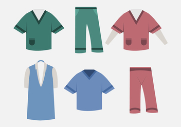 Vector nurse scrubs - vector gratuit #274067