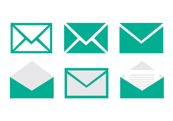 Set of email vector icons - vector gratuit #274077