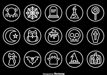Halloween outline icons - Free vector #274127