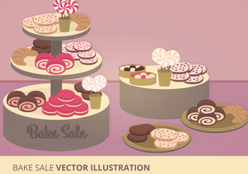 Bake Sale Vector Illustration - бесплатный vector #274147