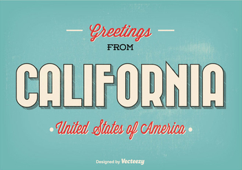 Greetings From California Illustration - бесплатный vector #274187