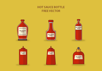 HOT SAUCE BOTTLE FREE VECTOR - vector gratuit #274227