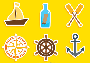 Nautical Colors Icons - vector #274257 gratis