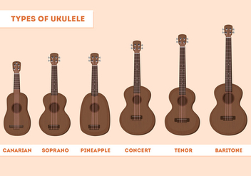 Ukulele Types - Free vector #274287