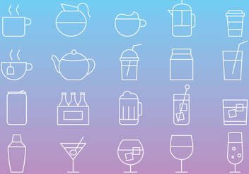 Beverages Line Icons - vector gratuit #274337