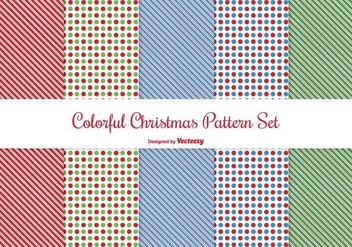 Christmas Pattern Set - бесплатный vector #274367