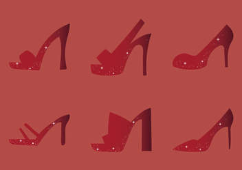 Free Ruby Shoes Vector Illustration - Kostenloses vector #274397