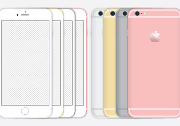 iPhone 6 Vectors - vector gratuit #274407