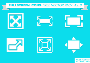 FullScreen Icons Free Vector Pack Vol 3 - vector gratuit #274437