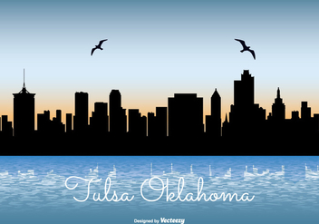 Tulsa Oklahoma Skyline Illustration - vector gratuit #274467