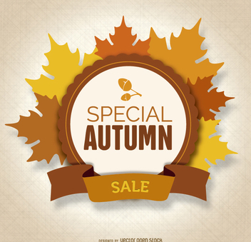 Autumn Sale leaves Logo - vector gratuit #274517