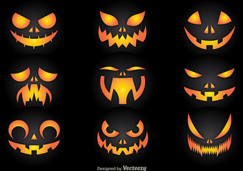 Pumpkin faces - Free vector #274597