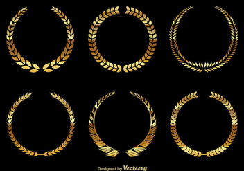 Golden wreaths - Free vector #274607