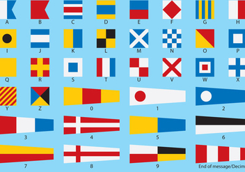 Nautical Flag Vectors - бесплатный vector #274627