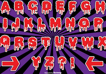 Halloween Alphabet Set - Free vector #274647