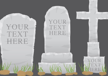 Grey Tombstone Vectors - бесплатный vector #274667