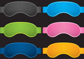 Sleep Masks - vector gratuit #274687