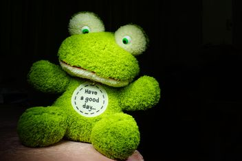 Green toy frog - image #274787 gratis