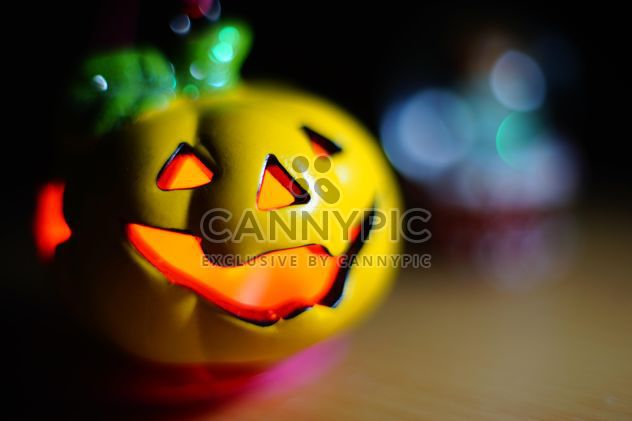 toy pumpkin close up on the table - Free image #274797