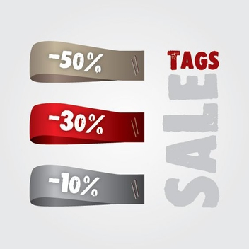 Sale Tag Strip Set - Free vector #274827