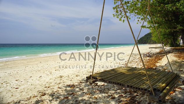 bamboo swing by the beach - Free image #275107