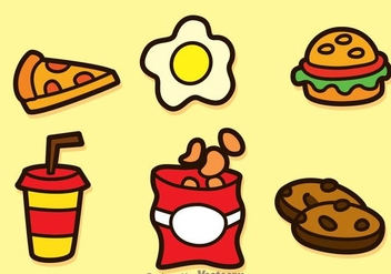 Fatty Food Icons - Free vector #275137